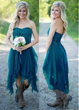 Graceful Chiffon Sweetheart Neckline Hi-lo A-line Bridesmaid Dress