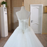Scoop Neck Lace Beaded Wedding Dress
