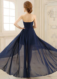 Elegant Chiffon Sweetheart Neckline A-line Evening Dress