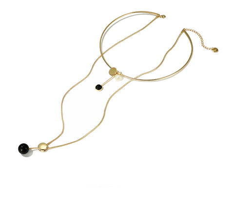 Double Long All-match Sweater Necklace