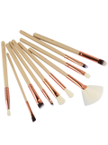 Champagne 10 Pcs Eye Makeup Brushes Set