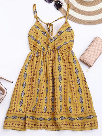 Unique Argyle Cami Chiffon Sundress
