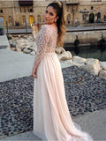 Beading Long Sleeve Evening Dress