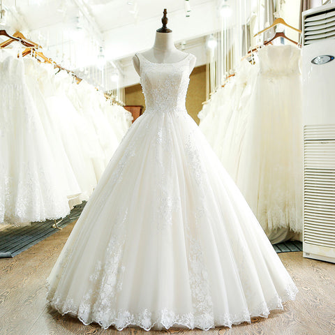 Sample A-Line Lace Wedding Dress