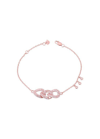 Fashion Three-ring clasped thin chain Bracelet