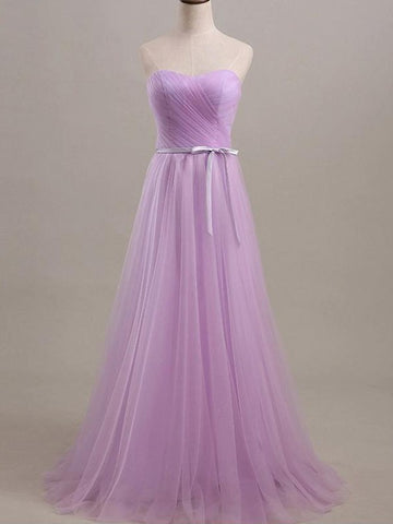 Tulle Sweetheart  Sash/Ribbon/Belt Bridesmaid Dress