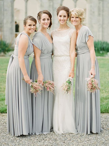 Chiffon V-neck Sleeveless Long With Ruffles Bridesmaid Dress