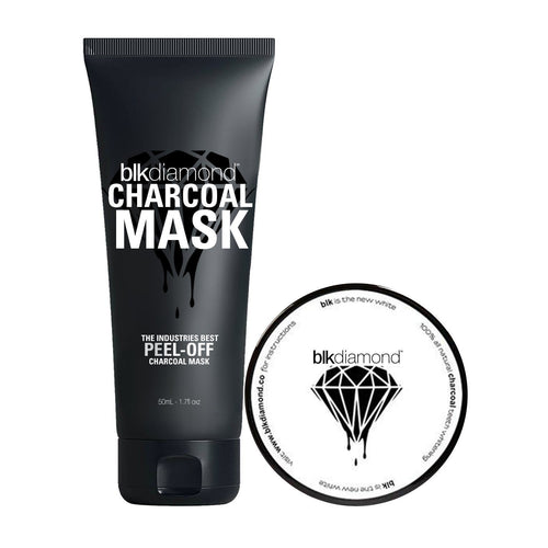 CHARCOAL MASK + POWDER BUNDLE Whiten Teeth Instantly Premium Activated Coconut Charcoal Teeth Whitening Toothpaste Powder
