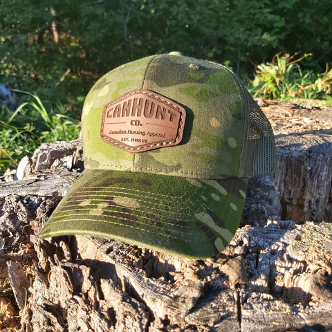 Leather Patch Snapback - Multicam Tropic