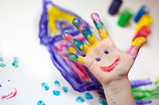 finger painting activity