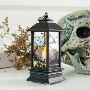 1PC Mini Simulated Halloween Series Candle LED Flame Light Outdoor Hanging Lantern Lamp for Home Bar Tabletop Decoration Holiday Lighting