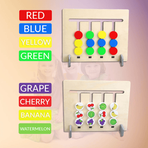 2019 Fruit & Color Master Game Toy Set Math Toys