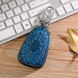 2in1 Leather Exclusive Car Key Holder Blue Key Wallets