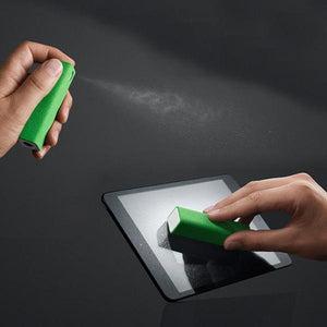2in1 Spray And Microfiber Cleaner Green Sprayer
