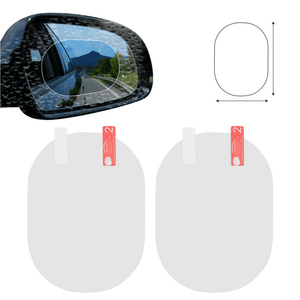 2nd Generation Anti-fog Car Mirror Film (2 pcs set) Oval white (small) Car Stickers