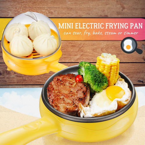 2nd Generation - Multi-use Mini Frying Pan Electric Skillets