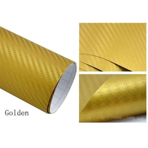 3D Carbon Car Styling Fiber Gold Car Stickers