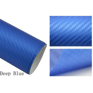 3D Carbon Car Styling Fiber Navy Blue Car Stickers