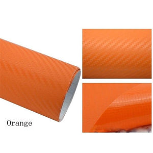 3D Carbon Car Styling Fiber Orange Car Stickers