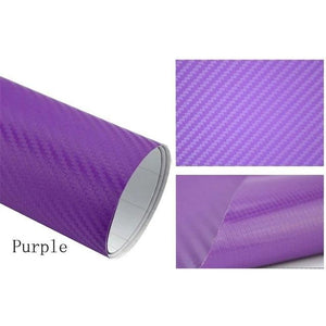 3D Carbon Car Styling Fiber Purple Car Stickers
