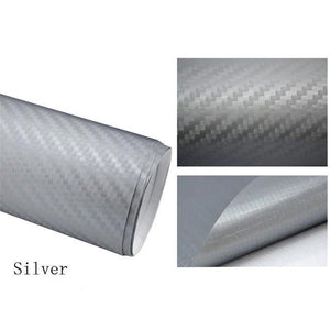 3D Carbon Car Styling Fiber Silver Car Stickers