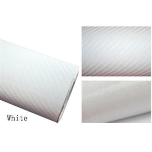 3D Carbon Car Styling Fiber White Car Stickers