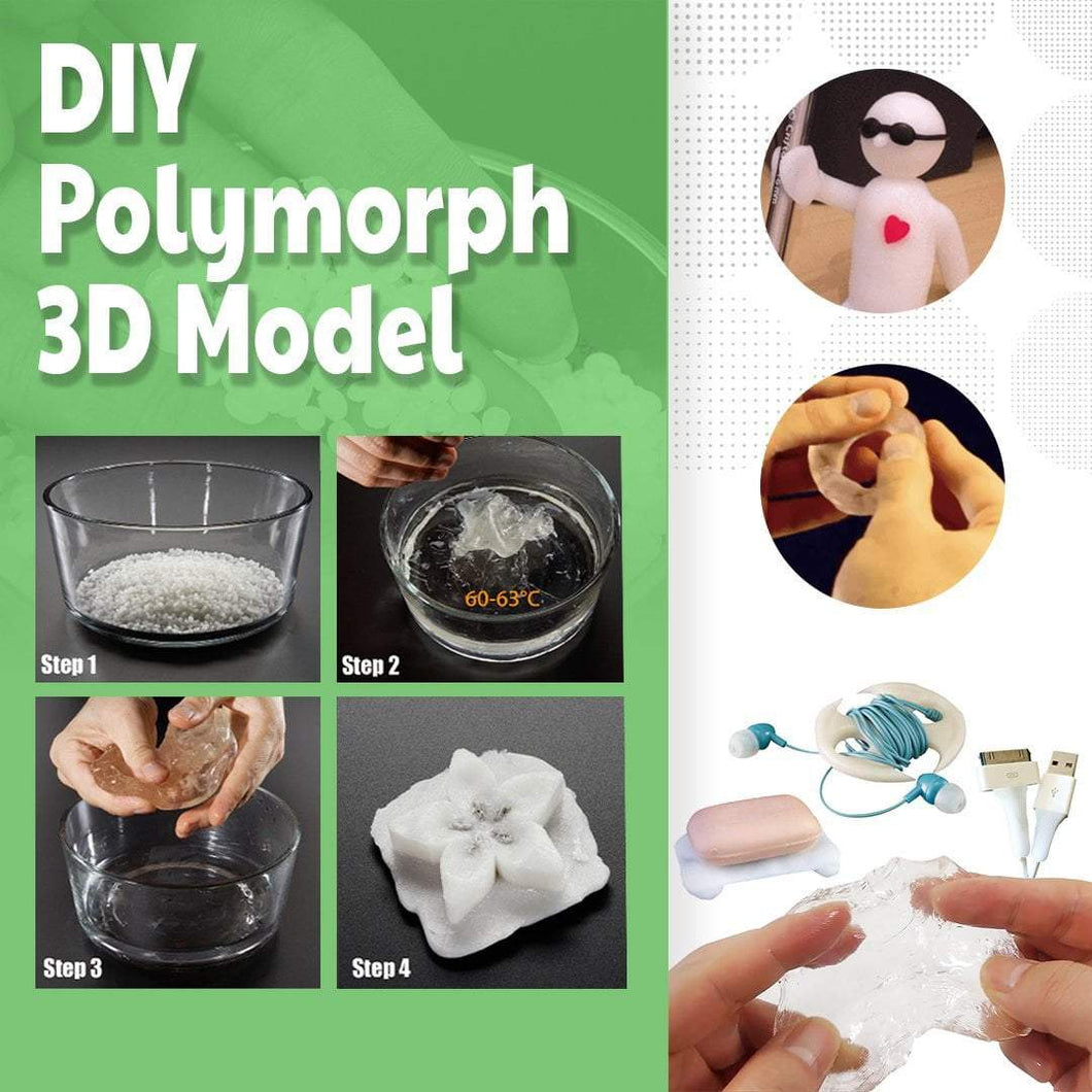 3D POLYMORPH Moldable Model Crystal Soil