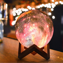 Load image into Gallery viewer, 3D Printed Magical Galaxy Lamp (16 colors) Small Galaxy Moon Lamp