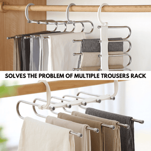 5 Layers - Premium Space Saver Hanger Pants Rack