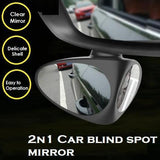 A-Must-Have 2n1 Car Blind Spot Mirror Black-Left Mirror & Covers
