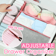 Load image into Gallery viewer, Adjustable Drawer Organizer (4PCS) Pink - Medium Storage Boxes & Bins