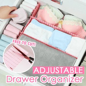 Adjustable Drawer Organizer (4PCS) Pink - Medium Storage Boxes & Bins