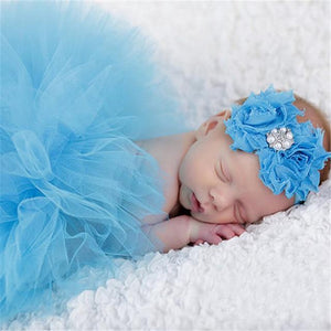 Adorable Skirt & Headband Set Blue Headbands & Skirt