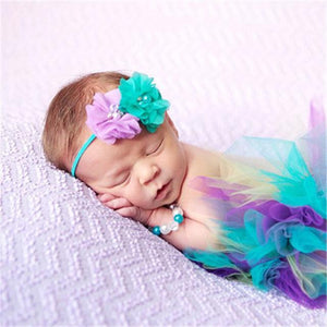 Adorable Skirt & Headband Set Multi-color Headbands & Skirt