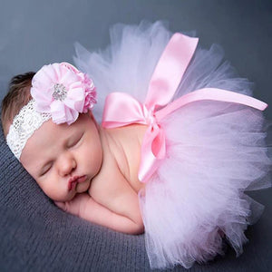 Adorable Skirt & Headband Set Pink Headbands & Skirt