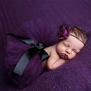 Adorable Skirt & Headband Set Violet Headbands & Skirt