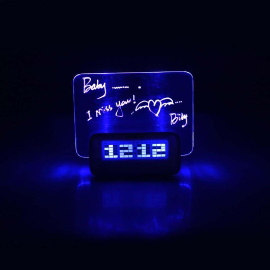 Alarm Clocks Luminous Digital Alarm Clock with Message Board