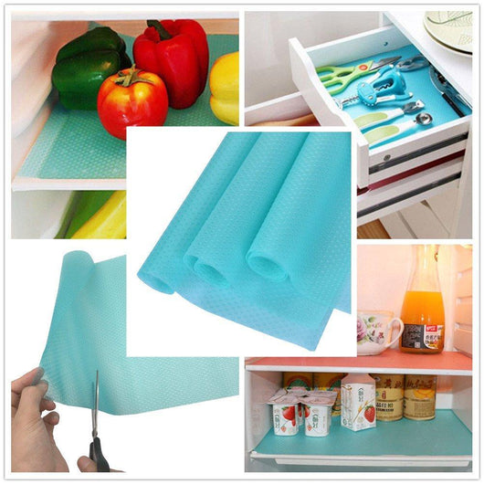 Anti-Bacterial Fridge Pad (4 pcs) Blue Mats & Pads