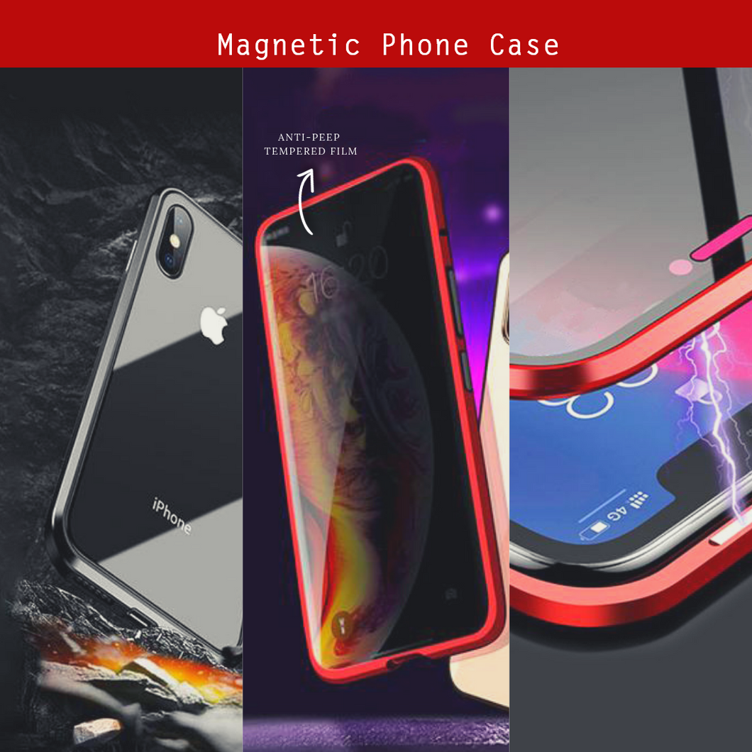 Anti-peep Magnetic iPhone Cover Red / iPhone XS Max Magnetic Phone Cases
