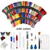 Artistic Embroidery Pen Kit 100 Colors Set Sewing Tools & Accessory
