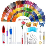 Artistic Embroidery Pen Kit 150 Colors Set Sewing Tools & Accessory