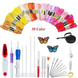 Artistic Embroidery Pen Kit 50 Colors Set Sewing Tools & Accessory