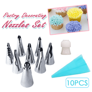 Artistic Pastry Nozzles Set Blue Cake decorating set