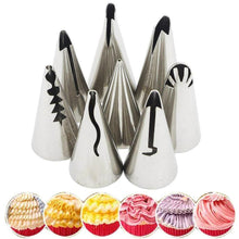 Load image into Gallery viewer, Artistic Pastry Nozzles Set Blue Cake decorating set