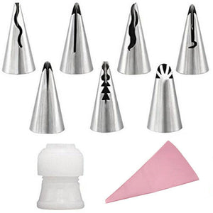 Artistic Pastry Nozzles Set Pink Cake decorating set