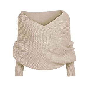 Autumn & Winter Fashion - Shawl Scarf With Sleeves Beige Women's Scarves