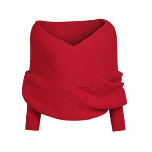 Autumn & Winter Fashion - Shawl Scarf With Sleeves Red Women's Scarves