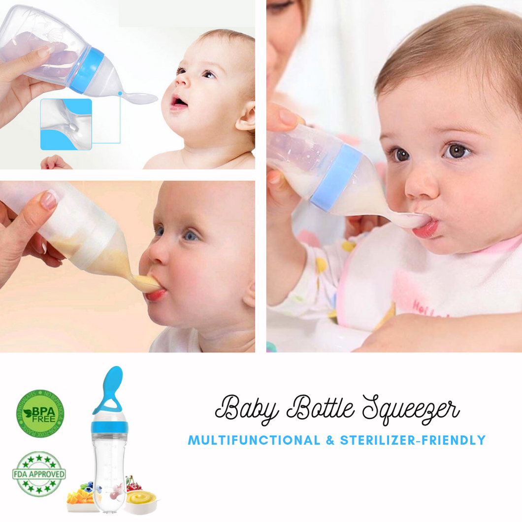 Baby Hero® Baby Bottle Squeezer Blue Bottle Squeezer