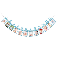 Load image into Gallery viewer, Baby's 1st Birthday Photo Frame Blue Photo Frame