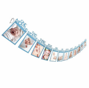 Baby's 1st Birthday Photo Frame Blue Month Photo Frame